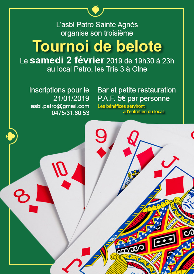 Tournoi de belote 2019
