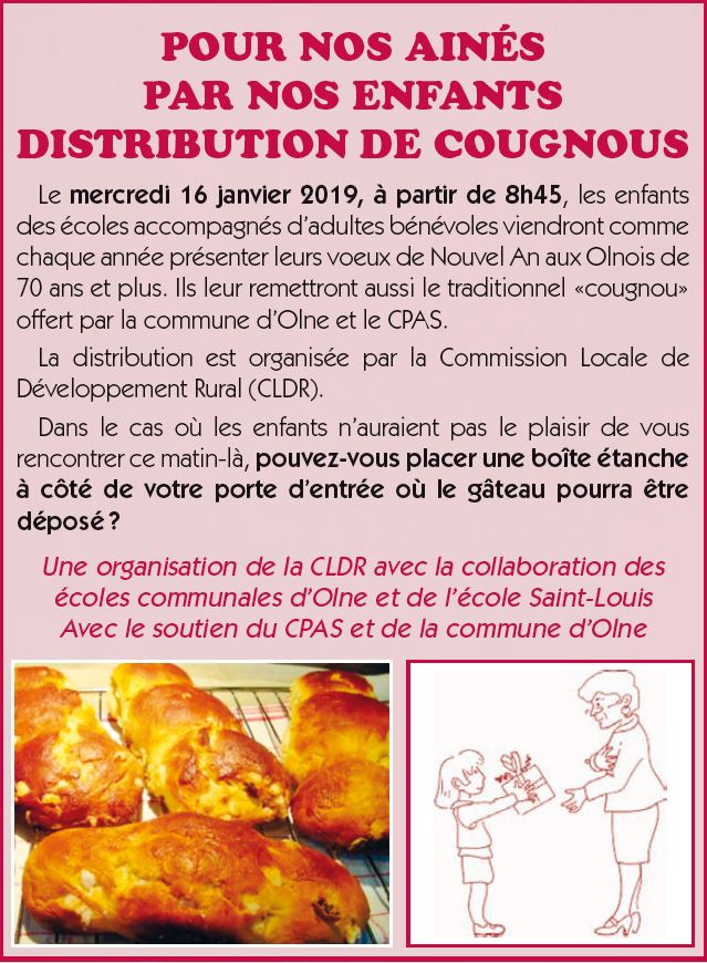 distribution de cougnous 2019