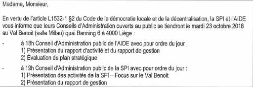 Conseils d'administration SPI - AIDE